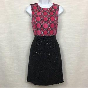 RACHEL Rachel Roy pink and black sheath dress